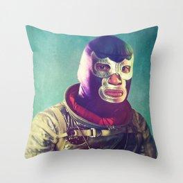 Luna Luchador Throw Pillow
