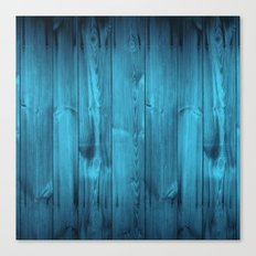 Blue Wood Planks Canvas Print