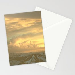 Sunset from the summit of Mount Evans, Colorado Stationery Cards