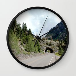 Driving the Spectacular, but Perilous Uncompahgre Gorge, No. 5 of 5 Wall Clock