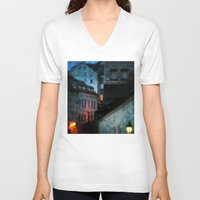 bohemian V-neck T-shirts featuring Bohemian Nights by Bella Blue Photography