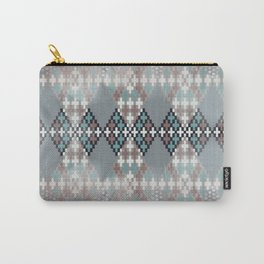 blurry diamond geo in pale teal and ochre Carry-All Pouch