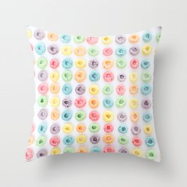 FRUIT LOOPS, PLEASE! Throw Pillow