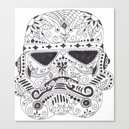 Day of the Dead Trooper Canvas Print
