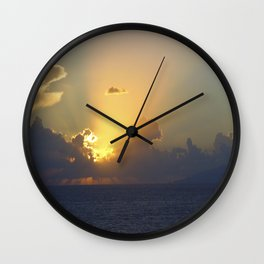 Sunset, Amalphi coast, Italy 2 Wall Clock