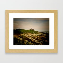 Beavertail Lighthouse on Conanicut Island Framed Art Print