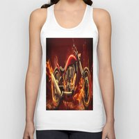 motorbike Tank Tops featuring FIRE MOTORBIKE by Acus