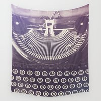 typewriter Wall Tapestries featuring Typewriter by Jessica Torres Photography