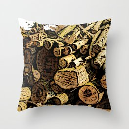 Wood Pile bywhacky Throw Pillow
