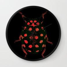 Insecte rouge et noir colors fashion Jacob's Paris Wall Clock