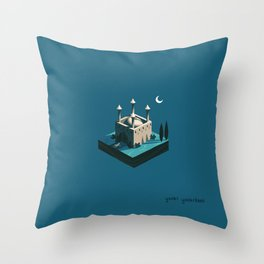 Moonscape I Throw Pillow