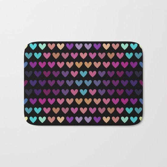 Colorful hearts IV Bath Mat