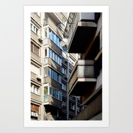 Belgrade / Balconies Art Print