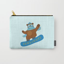 Snowboarding funny Bear Carry-All Pouch