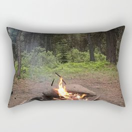 Backpacking Camp Fire Rectangular Pillow