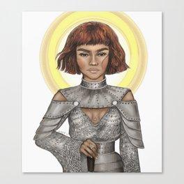Zendaya of Arc Canvas Print
