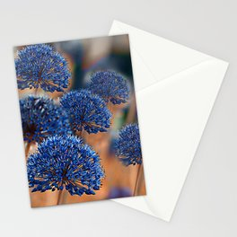 Blue ball flowers Stationery Cards