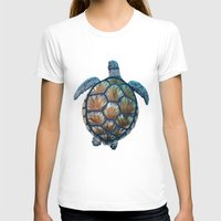 sea turtle T-shirts featuring Turtle by Elise Cayouette