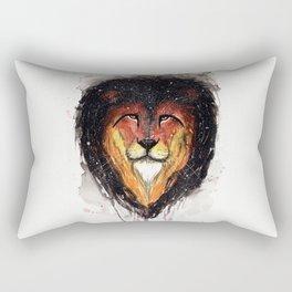 Fire Lion. Rectangular Pillow