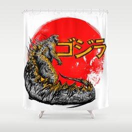 Godzilla  Shower Curtain