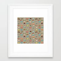 cars Framed Art Prints featuring Cars by Marcelo Badari