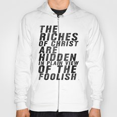 THE RICHES OF CHRIST ARE HIDDEN IN PLAIN OF THE FOOLISH (Matthew 6) Hoody