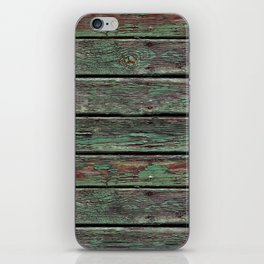 Painted rustic wood iPhone Skin