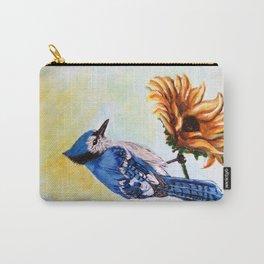 Blue Jay- Acrylic on Canvas Carry-All Pouch