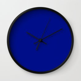 Phthalo Blue - solid color Wall Clock