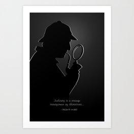 Sherlock Holmes Silhouette & Quote Art Print