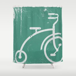 Grunge bicycle Shower Curtain