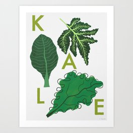 Eat Your Veggies - Kale Art Print