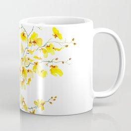 yellow Oncidium Orchid watercolor Coffee Mug