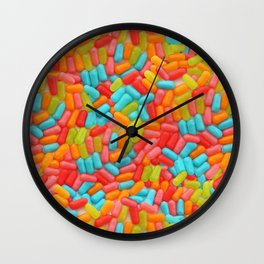 Colorful Tropical Jelly Bean Candy Photo Pattern Wall Clock