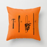 pulp Throw Pillows featuring Pulp Makers by Evan Luza