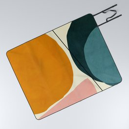 shapes geometric minimal painting abstract Picnic Blanket