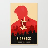 bioshock Canvas Prints featuring Bioshock Infinite by Bill Pyle