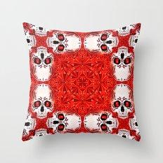 Crystals & Skulls pattern Throw Pillow