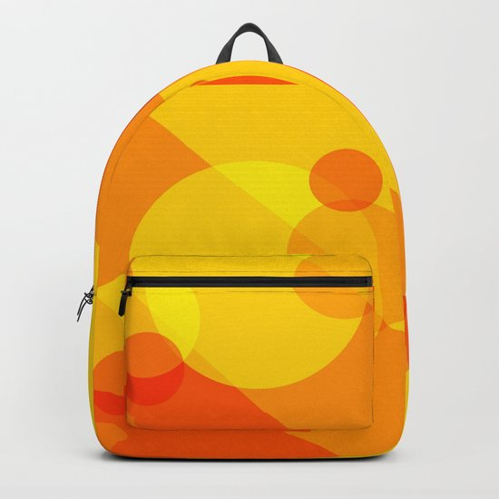 Orange Spheres Abstract Backpack