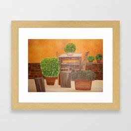 Terrace in Tuscany Framed Art Print