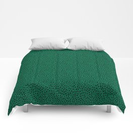 LEOPARD PRINT in GREEN | Collection : Leopard spots – Punk Rock Animal Print Comforters