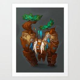Tree Golem Art Print