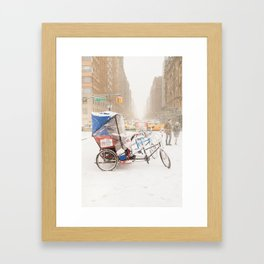 NYC Snow Day on Central Park West Framed Art Print