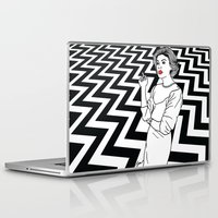 twin peaks Laptop & iPad Skins featuring Twin Peaks by Saul Art