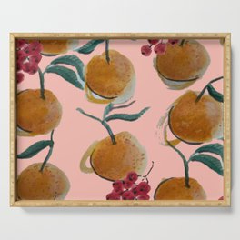 Satsumas and Currants Print Serving Tray