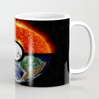 pokeball Mugs featuring Galaxy Pokeball by Advocate Designs