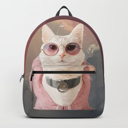 Fashion Portrait Cat Backpack