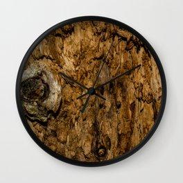 Rotten Wood Wall Clock