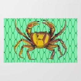 Green Underwater Crab Pop Art Rug