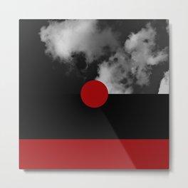 Night Skies Red Metal Print